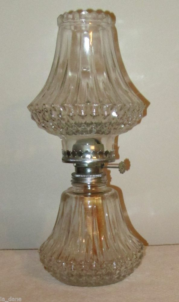 Quot Lamplight Farms Quot Diamond Cut Glass Oil Kerosene Lamp
