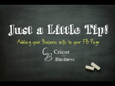 Adding your Business links to your personal FB page - CricutforBusiness.com