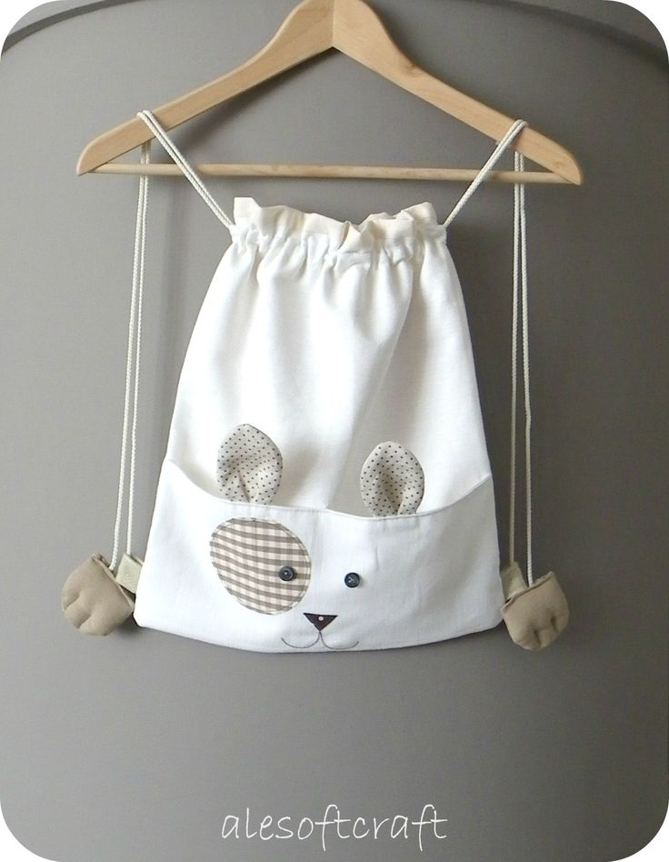 Critter drawstring bag - inspiration :)