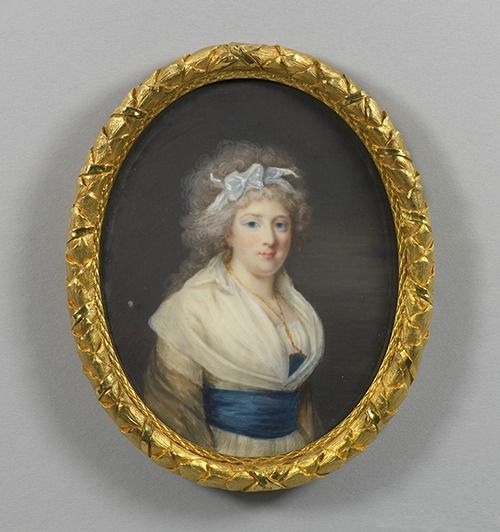 A portrait of Madame Elisabeth de France, sister of Louis XVI, by an unknown artist. Circa 1794. Image: Royal Collection © Her Majesty Queen Elizabeth II