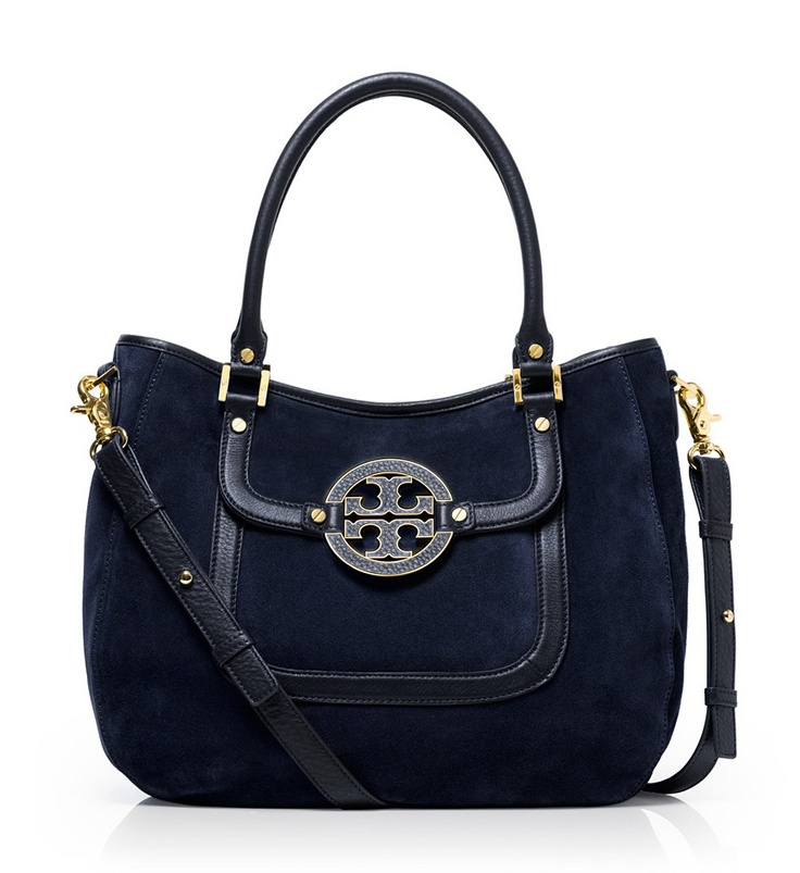 Tory Burch Suede And Leather Amanda Hobo bag