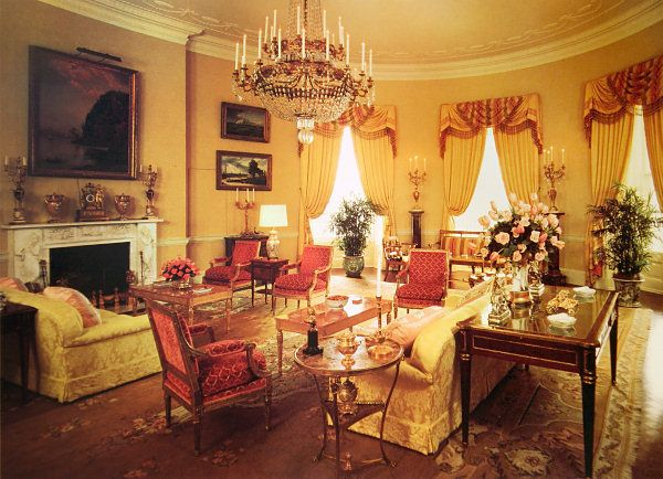 The Yellow Oval Room, Circa Looking Southeast. Find This Pin And More On White  House Interior ...