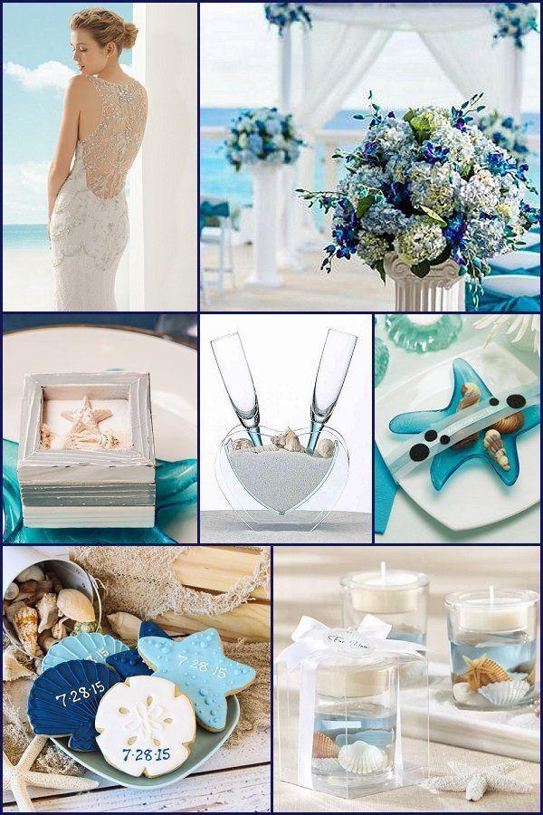 Blue And Dreamy Beach Wedding Theme Wedding Themes Beach Theme