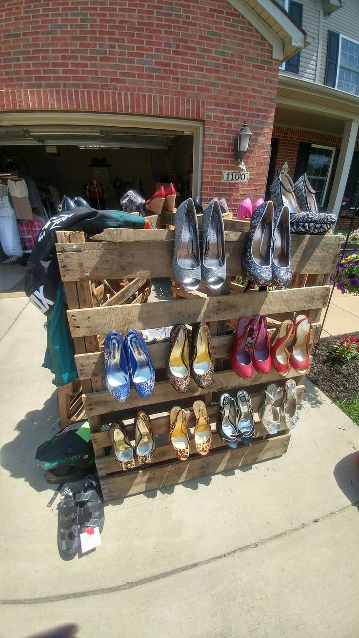 Shoe Display For High Heels At A Yard Sale Yard Sale