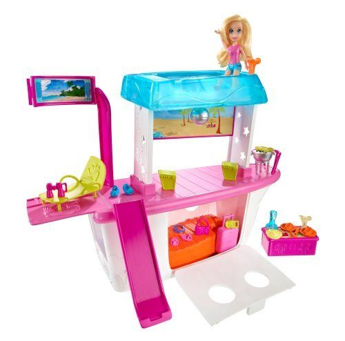 Polly Pocket Party Boat Adventure by Mattel. $16.47. Polly and her friends are ready for a fun adventure on the high seas. Buffet area transforms to disco/DJ station. Everything needed for fun in the sun or under the stars. Includes one Polly doll, 20+ accessory pieces and party boat. Party boat features a pool, a slide and day to night party transformations. Polly Pocket Party Boat Adventure: Polly and her friends are ready for fun and adventure on the high seas. Polly has a coo...