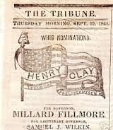 The Whig Party was a political party active in the middle of the 19th century in the United States of America. Four Presidents of the United States were members of the Whig Party. Considered integral to the Second Party System and operating from the early 1830s to the mid 1850s, the party was formed in opposition to the policies of President Andrew Jackson and his Democratic Party.