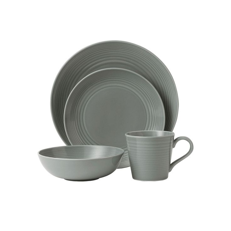 Royal Doulton Gordon Ramsay Maze 4-pc. Place Setting, Grey