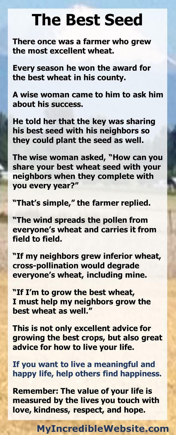 The Best Seed: A Short Story about Sharing | Inspirational ...