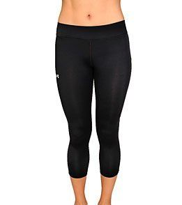 Under Armour Women's UA Draft Allseasongear 20-Inch Capri: Running Capris by Under Armour. $54.99. The feminine 20-Inch Capri from Under Armour is trendy in design, comfortable in fit and durable in material. - Low rise. - Comfortable seam construction. - Flat knit waistband. - Strategically placed mesh. - Provides premium ventilation. - Concealed back zip pocket. - UPF 30+. - 360 degree reflectivity. - HeatGear fabric. - Keeps athletes cool, dry a...