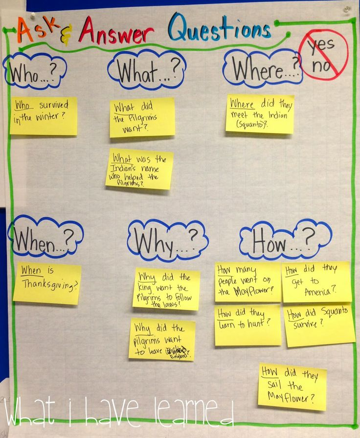 What I Have Learned: Classroom Anchor Charts. Love the ask&amswer questions and the give an example and a non example