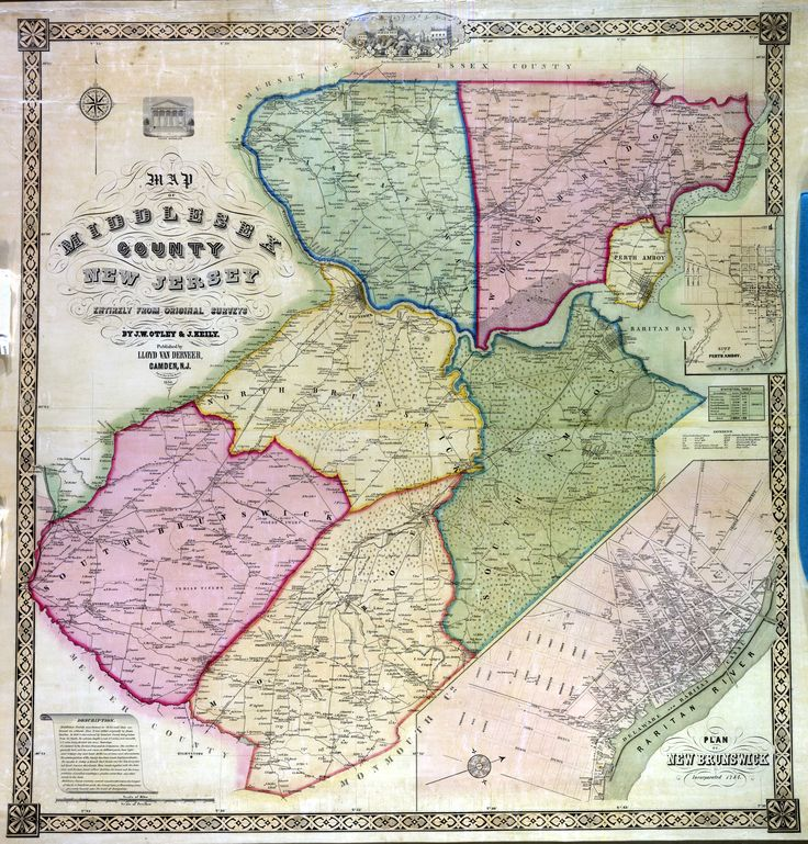 Historical Maps New Jersey 19 best Maps