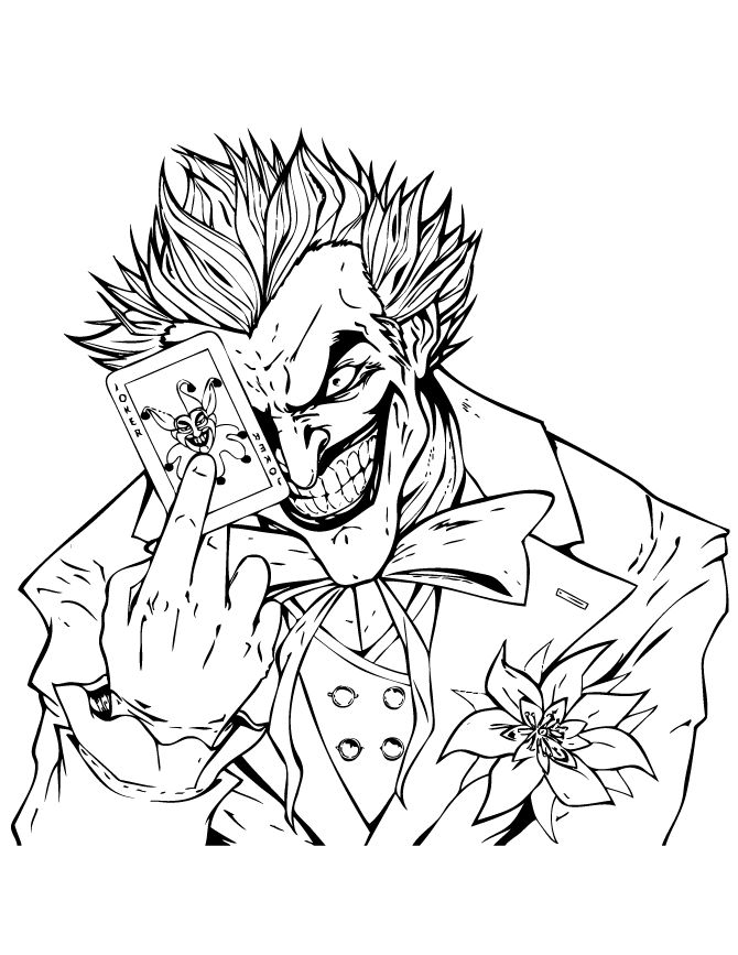 Joker Coloring Pages Coloring Pages Coloring Pages Adult