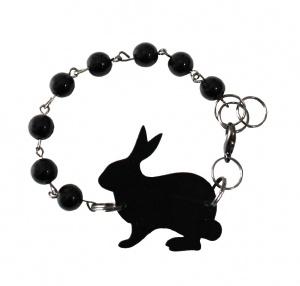 Kooky Gemsin LP Ethel bracelet black.