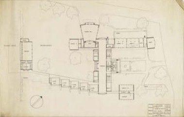 Сельская школа в Импингтон Вилледж. План здания.