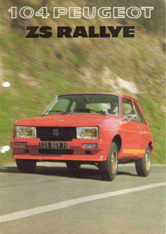 """La très rare 104 ZS kit """"Rallye"""""""