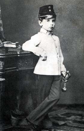 1865 Rodolphe d'Autriche, fils de Sissi et François-Joseph