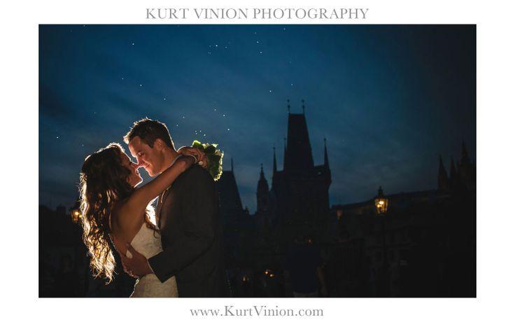 a beautiful elopement wedding in Prague - the Charles Bridge with Rachel & Brenden
