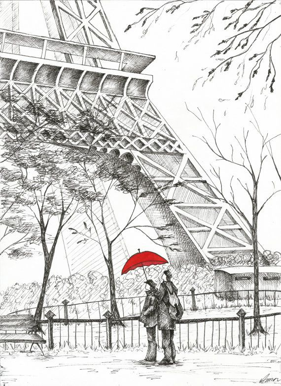 Romantic Paris. Eiffel Tower by AnnasArtHaven