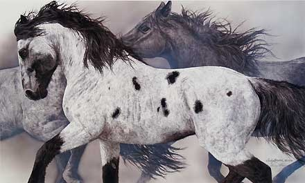 The Ghost Wind - Judy Larson - World-Wide-Art.com - $245.00 #JudyLarson #Horses