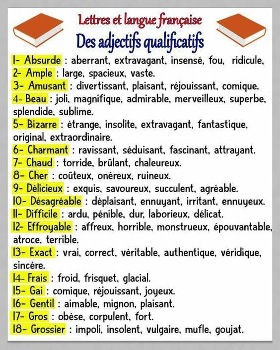 Une liste des adjectifs de couleur qui ne s'accordent pas