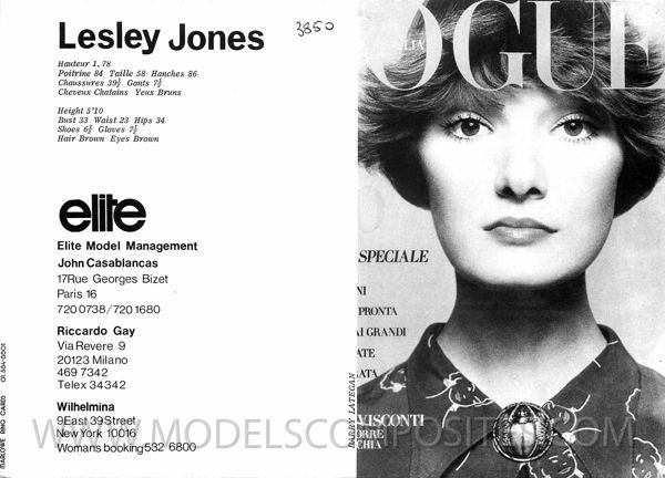 LESLEY JONES - VOGUE ITALY - 1971/72