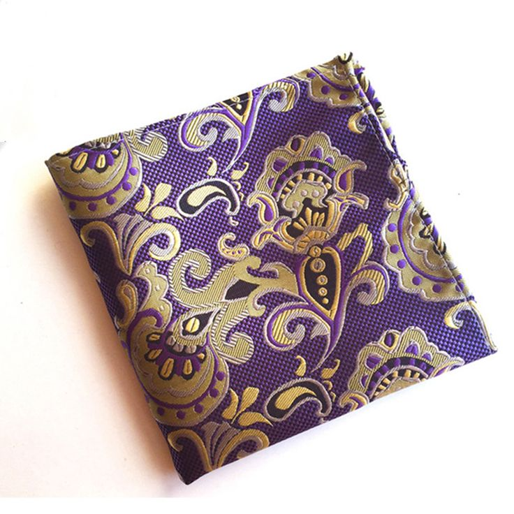 Mens Silk Pocket Square - Purple Yin by VIDA VIDA P72t3rXHoa