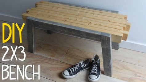 Build a Simple 2x3 Bench (with Hidden Fasteners) Simple