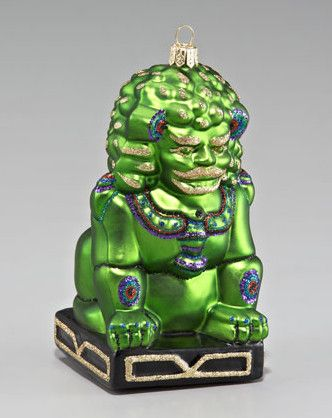 Chinese Foo Dog Holiday Ornament - asian - holiday decorations - - by Neiman Marcus