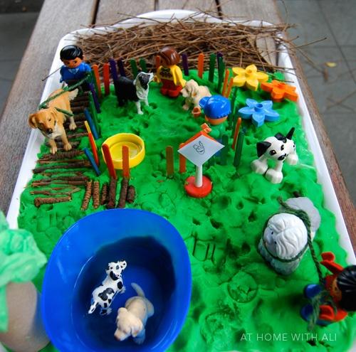 Dog park world as part of BIG and LITTLE.Preschool Activities, Small World Play, Plays Dough, Sensory Bins, Plays Ideas, Pretend Plays, Playdough, Little Dogs, Dogs Parks