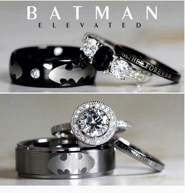 Batman wedding rings - I'd get married just so I could wear these.