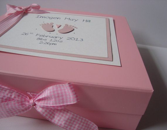 52 best memories box images on pinterest memories box items similar to luxury personalised baby girl or baby boy memory keepsake box on etsy negle Images