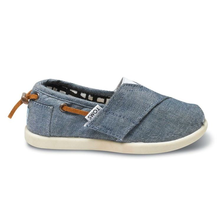 Toms Tiny Alpargata Jeans (013131D13-Chamb) - Souliers De Toile pour Unisexe | Chaussures Panda