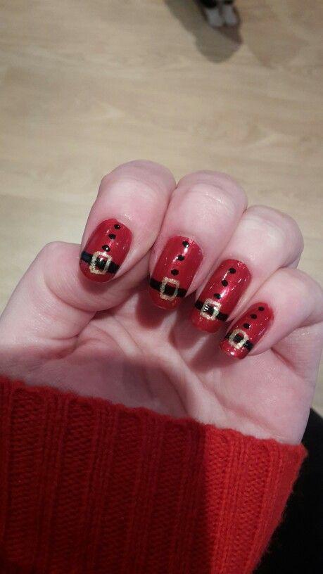 Santa nails #nailart #nailie