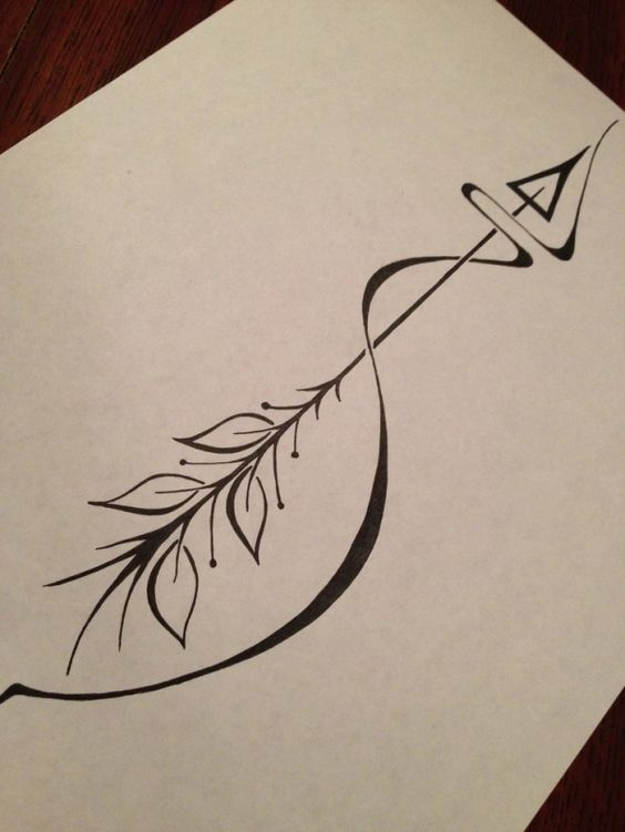 Arrow tattoo meaning: an arrow can only be shot forward by ...