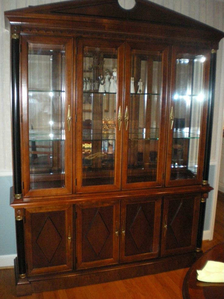 Stanley 'Empire' Dining Room Set Table, Chairs, Buffet