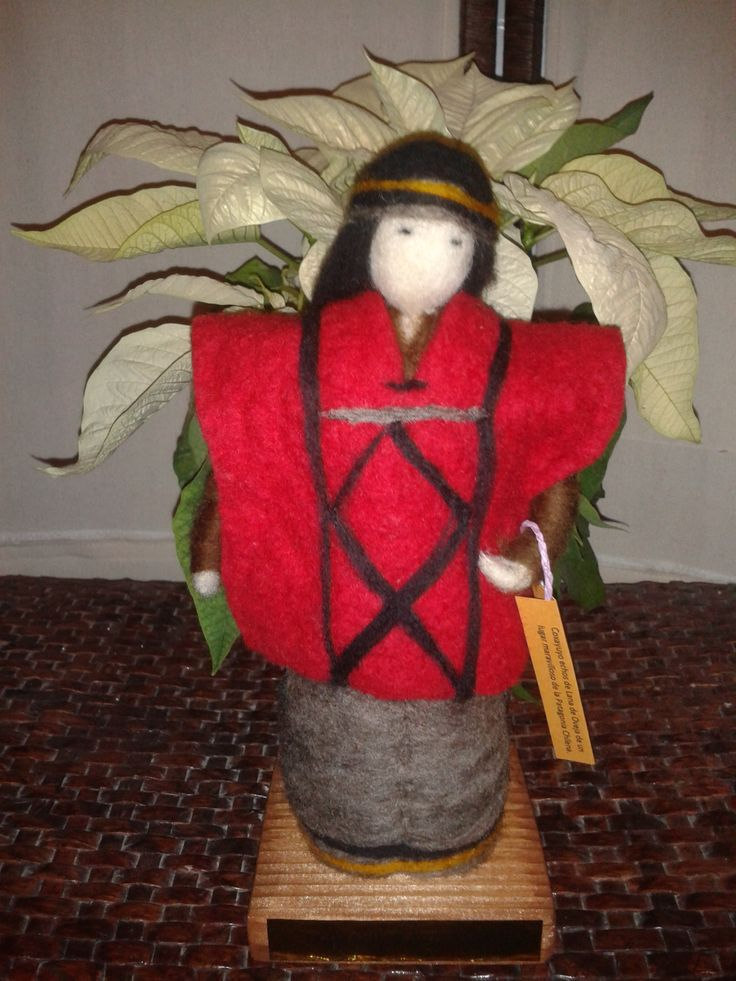 Hombre Mapuche en fieltro https://www.etsy.com/es/shop/CoxayuyoArtesanias