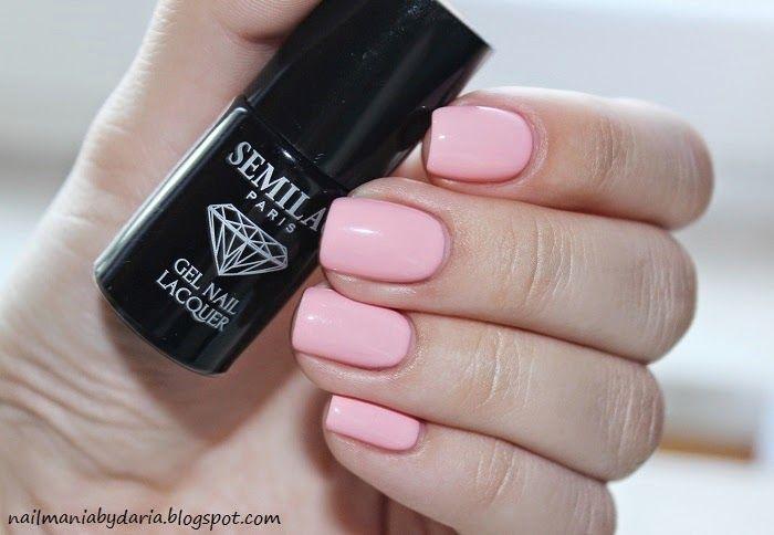 Stylizacja i Pielęgnacja Paznokci Naturalnych : Semilac, 047 Pink Peach Milk ♥ Manicure Hybrydowy
