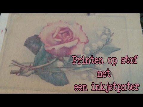 ▶ Diy Zelf op stof printen, Leuk voor moederdag! - YouTube