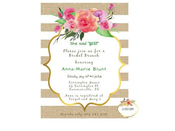 She Said Yes /Bridal Shower / Burlap Invitations / by 2DoDIY