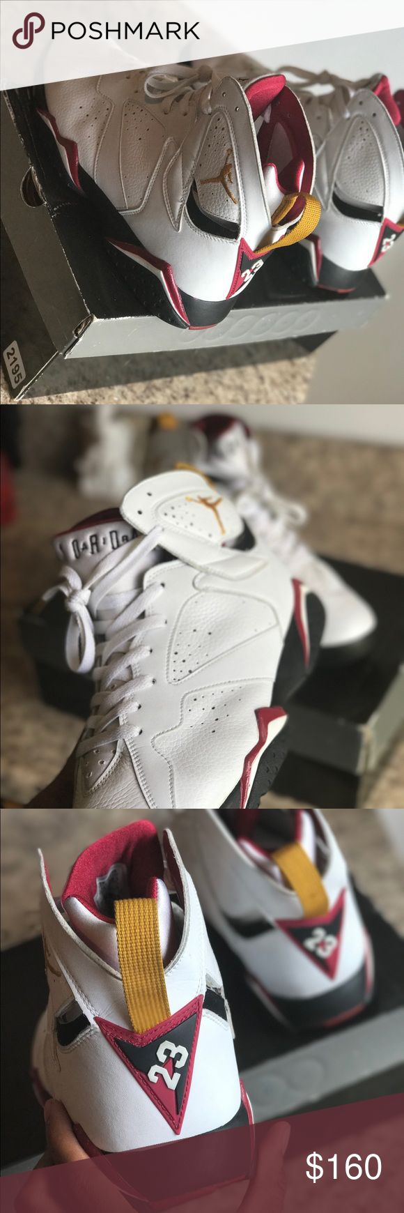 Cardinal 7s 🐤🔥 Cardinal 7s size 10. Slight creasing still in great condition I would say 9.6/10. Comes with original box and all 📦🙏🏾 Jordan Shoes Sneakers