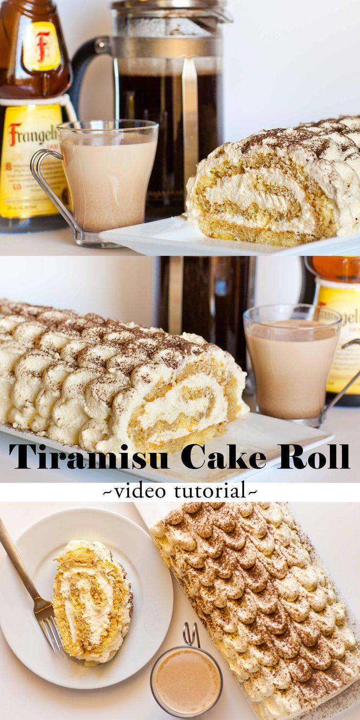 Video Recipe: Tiramisu Cake Roll www.tatyanaseverydayfood.com