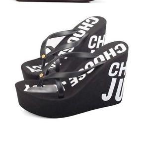 2015 New Women Super High Wedge Heels Colorful Thong Sandals Platform Flip Flops | eBay