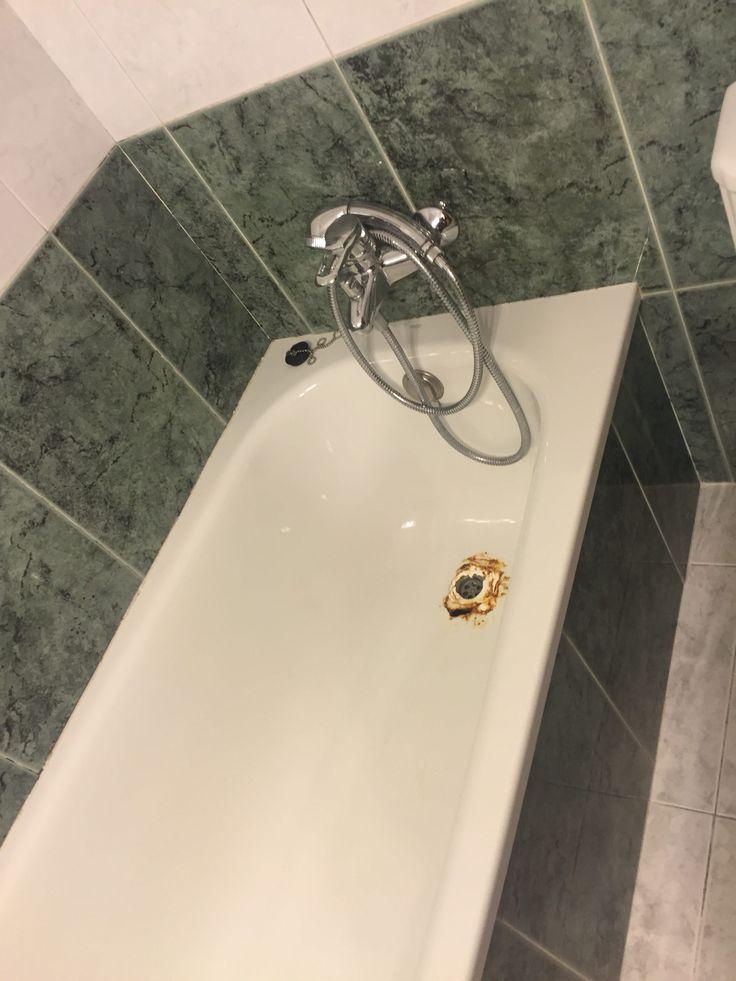 Reparar bañera con el desagüe perforado sin obras y con garantía por escrito. Trabajo realizado por VILASMALT en una sola sasión