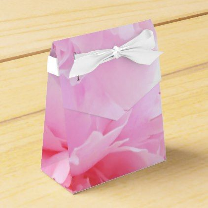 pink petals of a peony flower favor box - floral style flower flowers stylish diy personalize