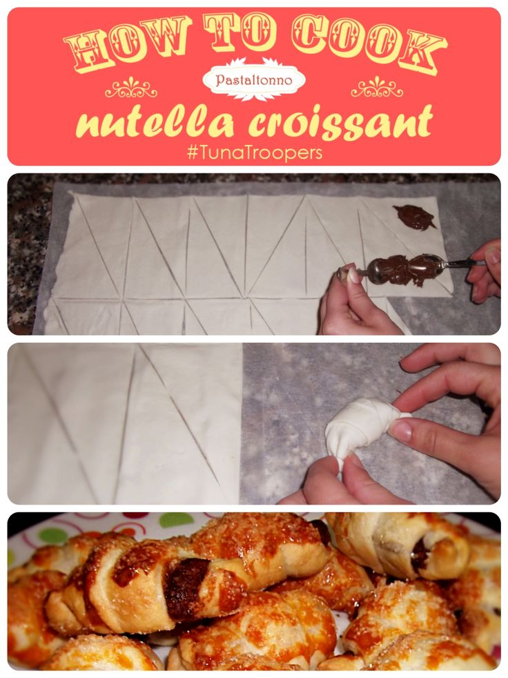 #nutella #croissant! A delicious moment for students! Easy 3-step recipe from #TunaTroopers! #dessert #breakfast