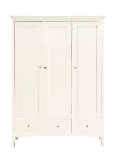 Hastings ivory triple wardrobe triple wardrobe for Furniture village wardrobes