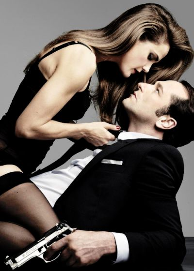 Totally obsessed. Elizabeth (Keri Russell) and Phillip (Matthew Rhys) from The Americans.