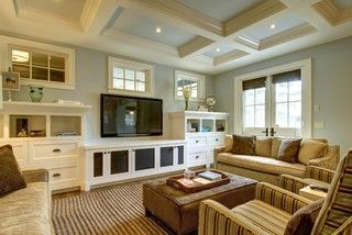 Fabulous City Living - craftsman - living room - calgary - by Rockwood Custom Homes
