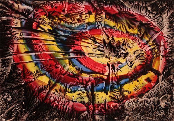 'Twirl', encaustic art on paper