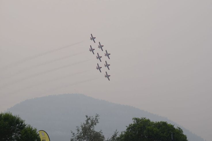 Peachfest Despite the smoke and smog, thousands of fans flocked to Penticton for Day 1 of the 70th edition of the Penticton Peach Festival.  Smoke caused from fires in nearby Washington State created some uncertainty as to whether the Snowbirds would be able to perform. It wasn't an issue.  Audiences were treated to a jaw-dropping performance by the Canadian Forces Skyhawks parachute team and the RCAF Snowbirds, which are, arguably, the most popular attraction in the festival's history.